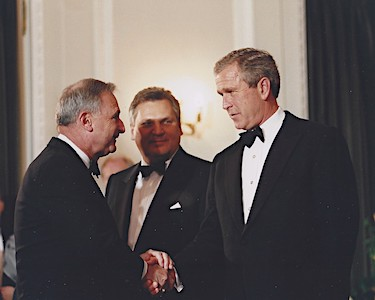 Mark Rosenker with President George W Bush